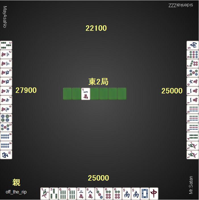 20151209dora麻雀総取りトーナメント2ゲーム目_東1局_1